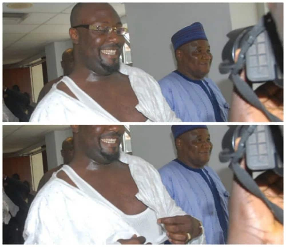 Dino Melaye was involved in a fight which left his clothes torn