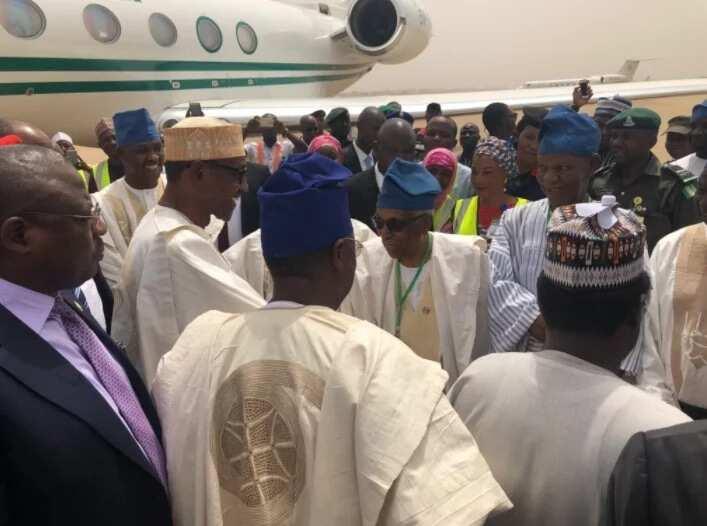 Yanzu Yanzu: Shugaba Buhari ya isa Adamawa domin taron yaki da rashawa