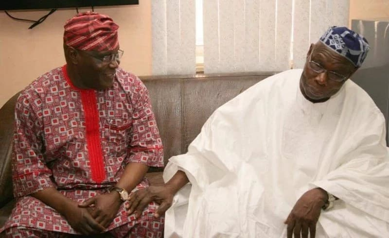 Ba zan taba goyon bayan Atiku a matsayin shugaban 'Kasa ba - Obasanjo