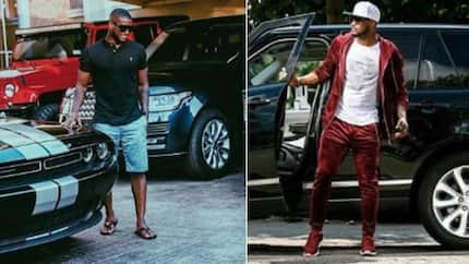 Peter Okoye shares photo of his luxurious fleet of cars