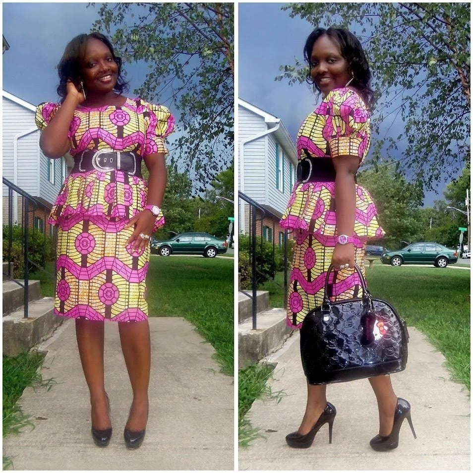 Ankara multicoloured skirt and blouse