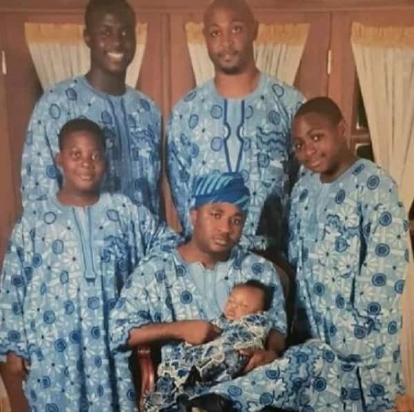 Trending family photo of Davido as a little boy, long before the 25-year-old became famous
