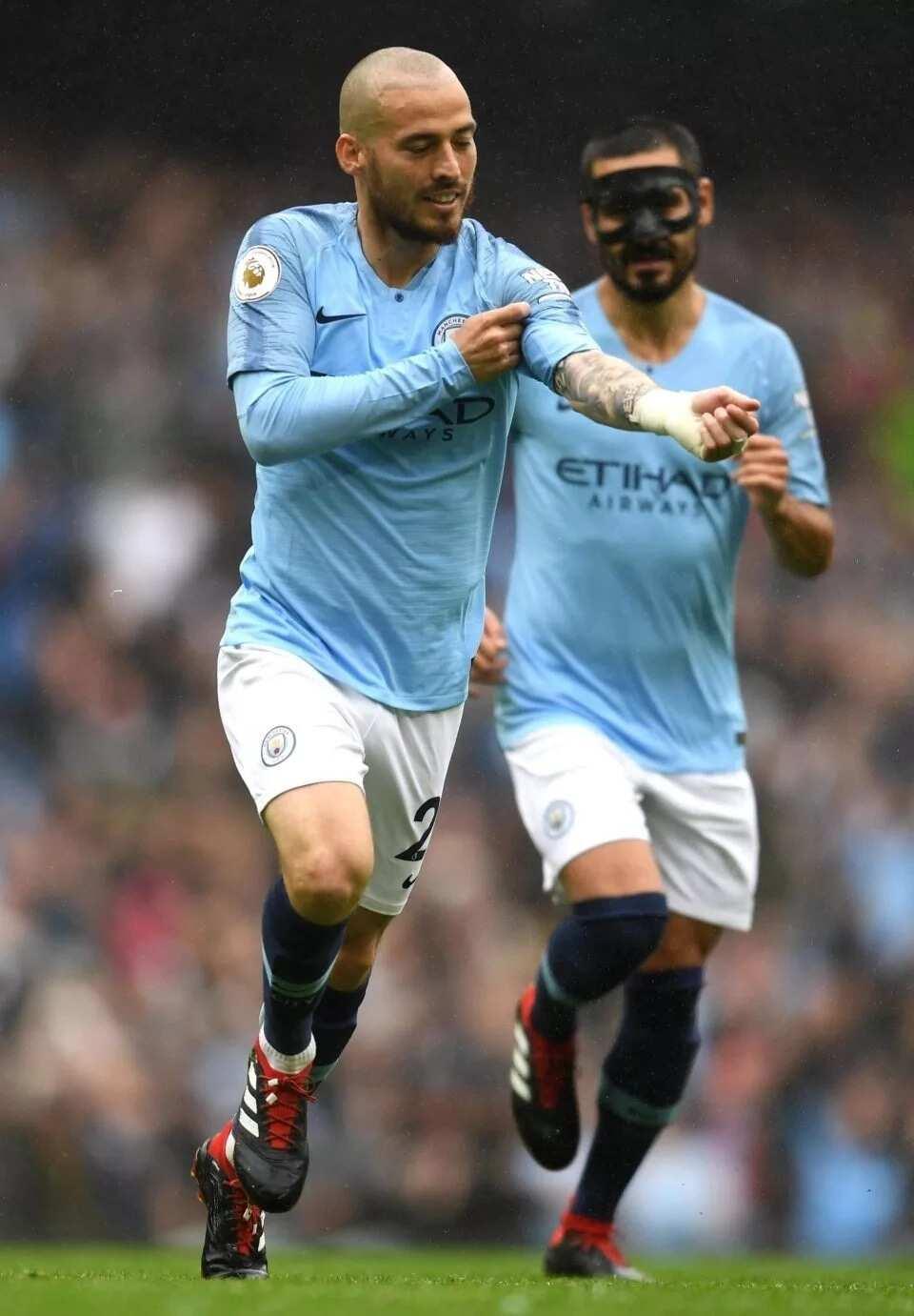 David Silva cradles miracle son Mateo before facing Huddersfield