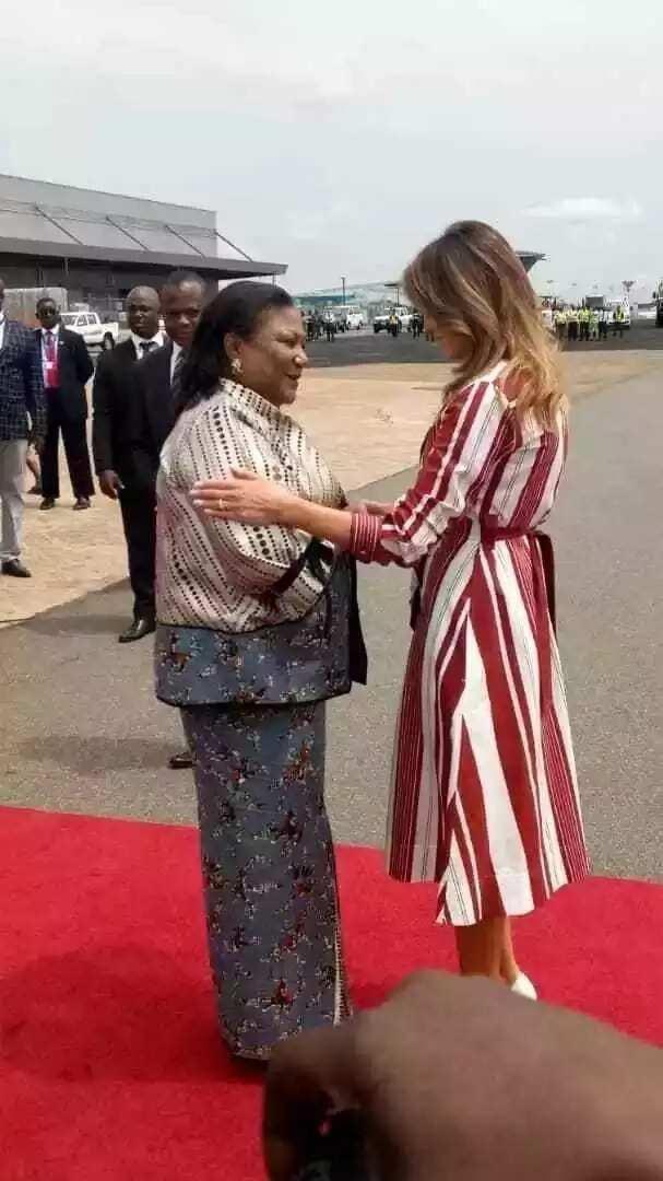 First photos of Melania Trump's arrival in Ghana
