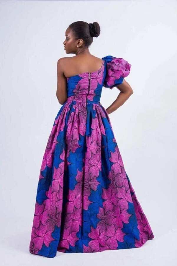 Ankara one shoulder dress
