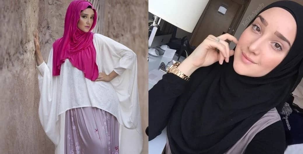Hijab styles for diamond face shapes