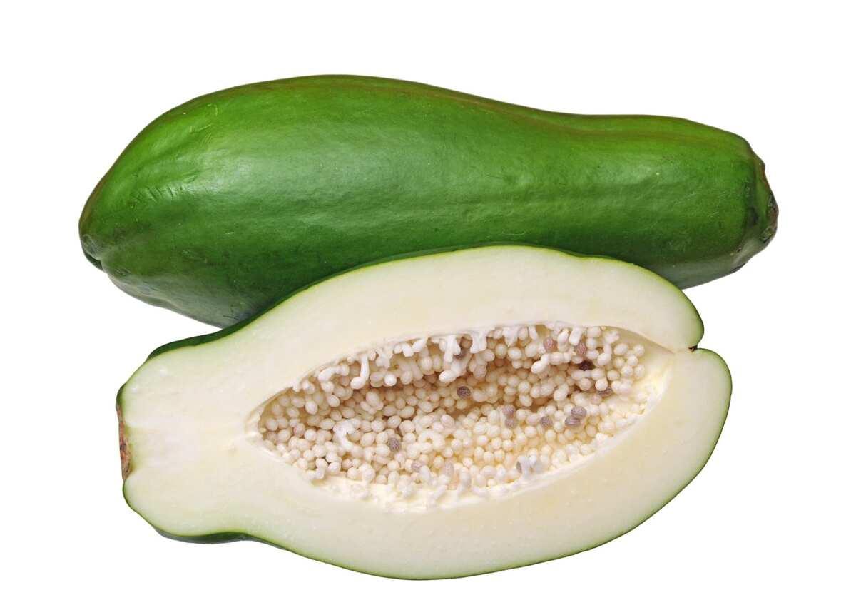 unripe pawpaw seeds