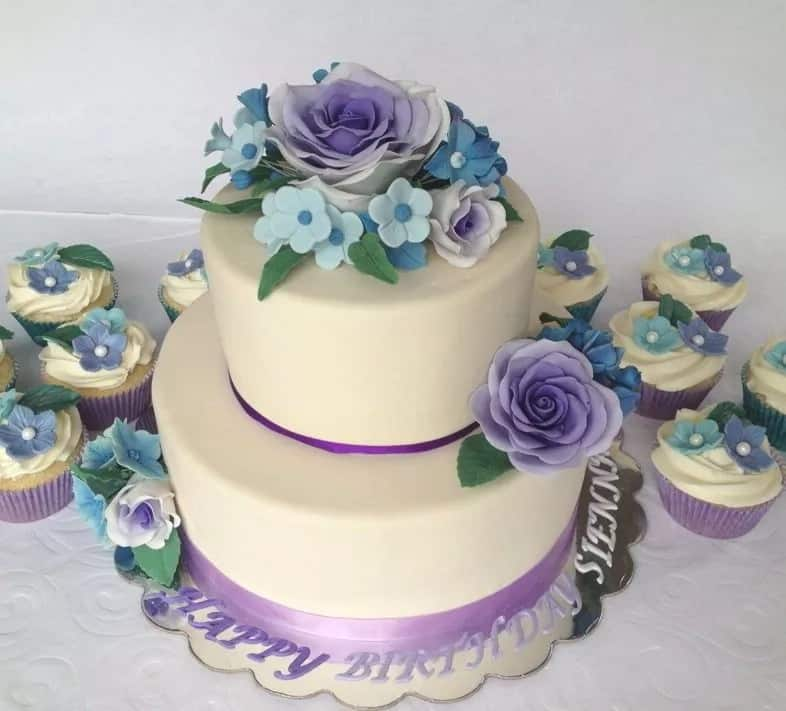 Birthday Cake With Flowers For Woman Name