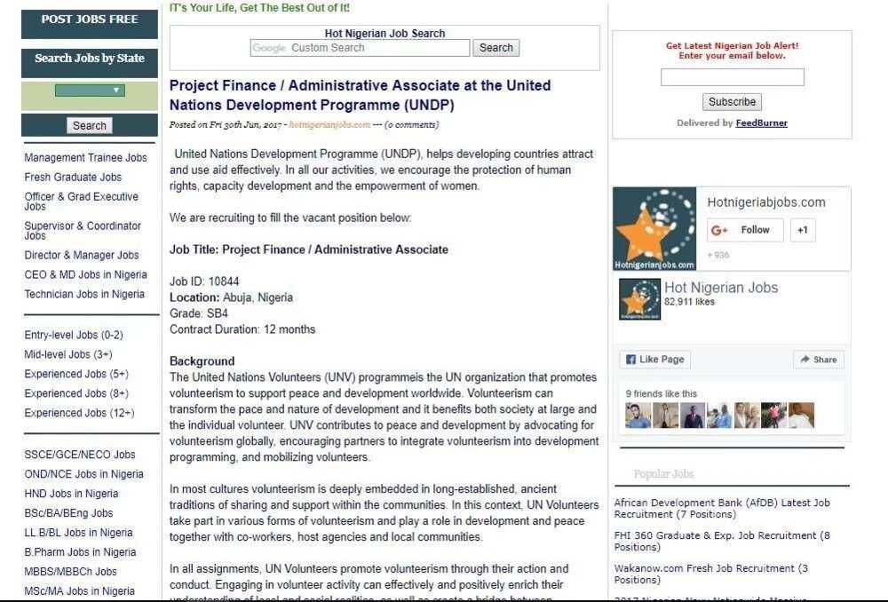 Top Five United Nations Job Recruitment In Nigeria - Circus
