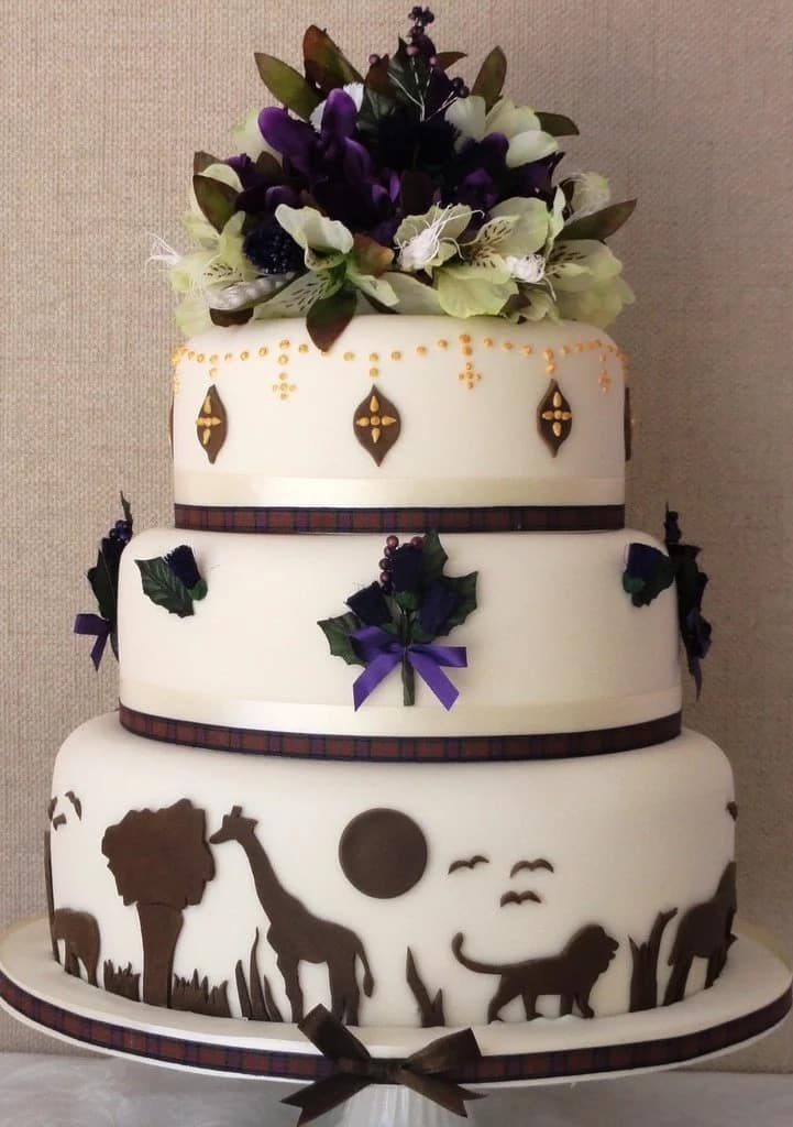 Wedding Anniversary Cake In African Style With Decor