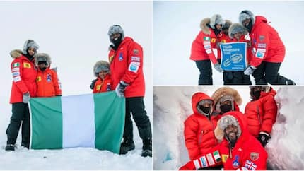 ABSOLUTELY FABULOUS! Meet Nigerian family who were the first black family to be on the North Pole (photos)