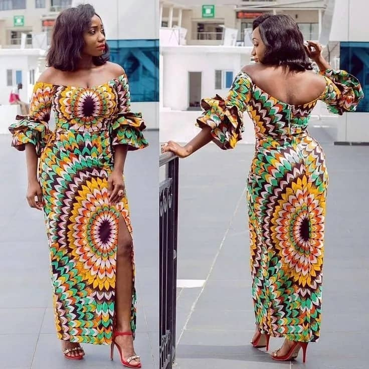 Hot ankara gown that shows your perfect back