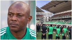 Just in! Super Eagles stars remember Stephen Keshi in training (photos)