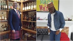 Richard Mofe Damijo spotted wearing a 'skirt' during a visit to Scotland