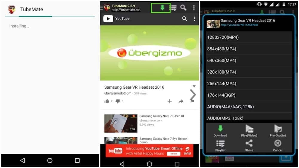 how to download youtube videos on android phone directly without any software