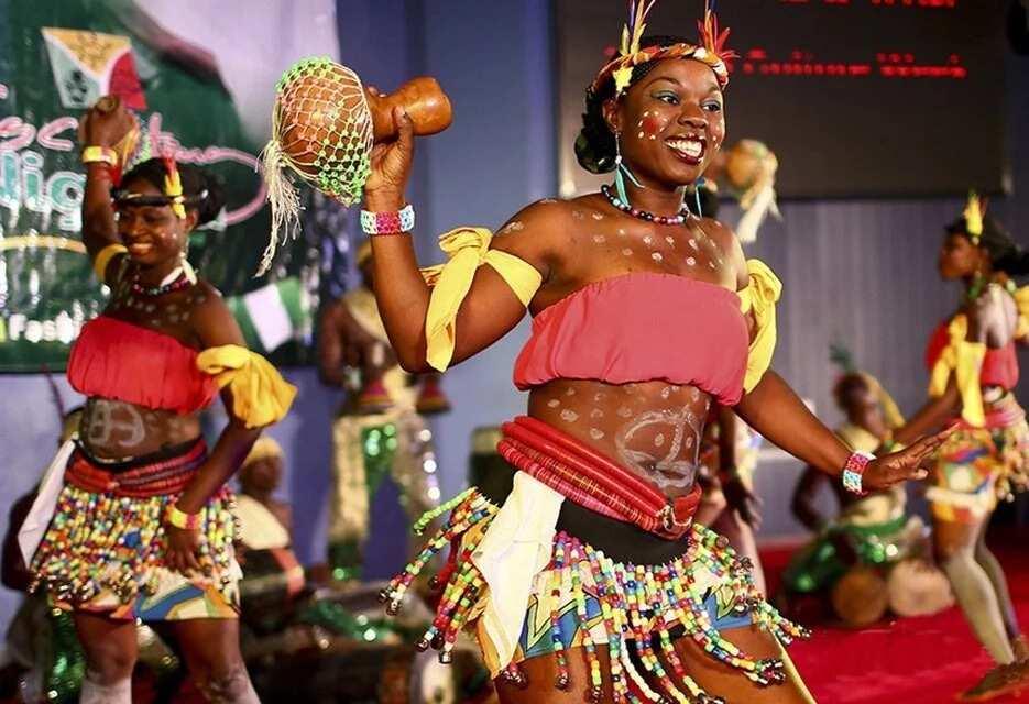 Nigerian dancers are performing at Nigerian Cultural Week
