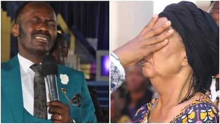 Famous pastor allegedly heals blind woman with prophetic word, she was blind for a year