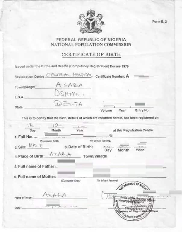 How to get birth certificate Nigeria ▷ Legit ng