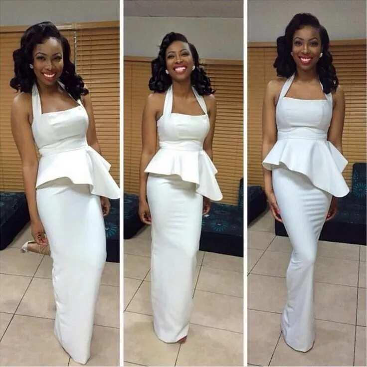 Peplum style wedding dresses