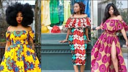 You will have all eyes on you wearing these beautiful Ankara off shoulder dresses