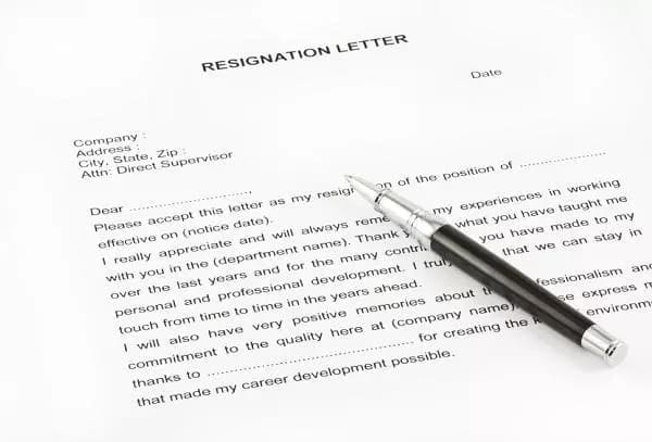How to write a resignation letter without notice ▷ Legit ng