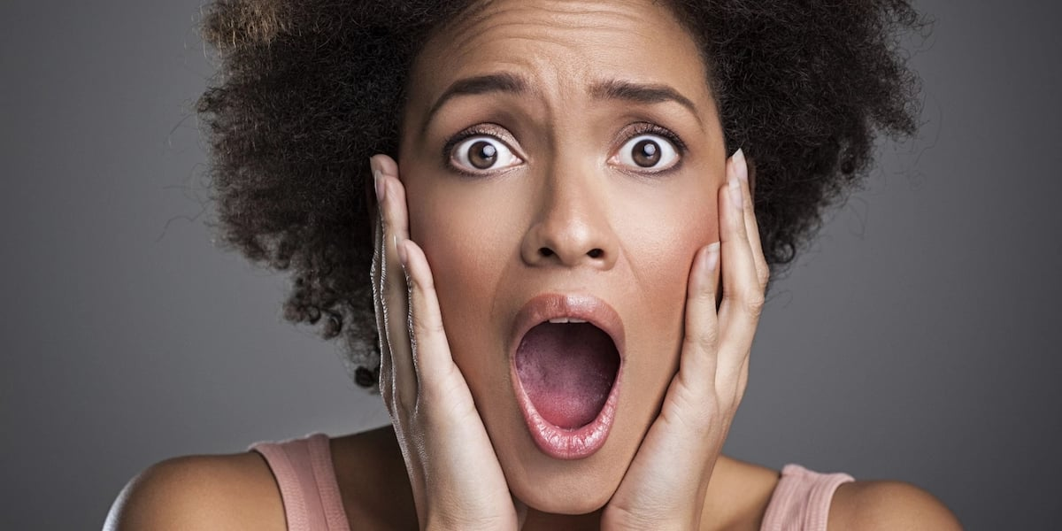 A shocked woman