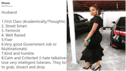 He must be a first class graduate, well-raised and street smart - Lady lists qualities she wants in her future husband