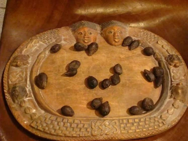 """""""Opon Ifa"""" a wooden divination tray to read divinations"""