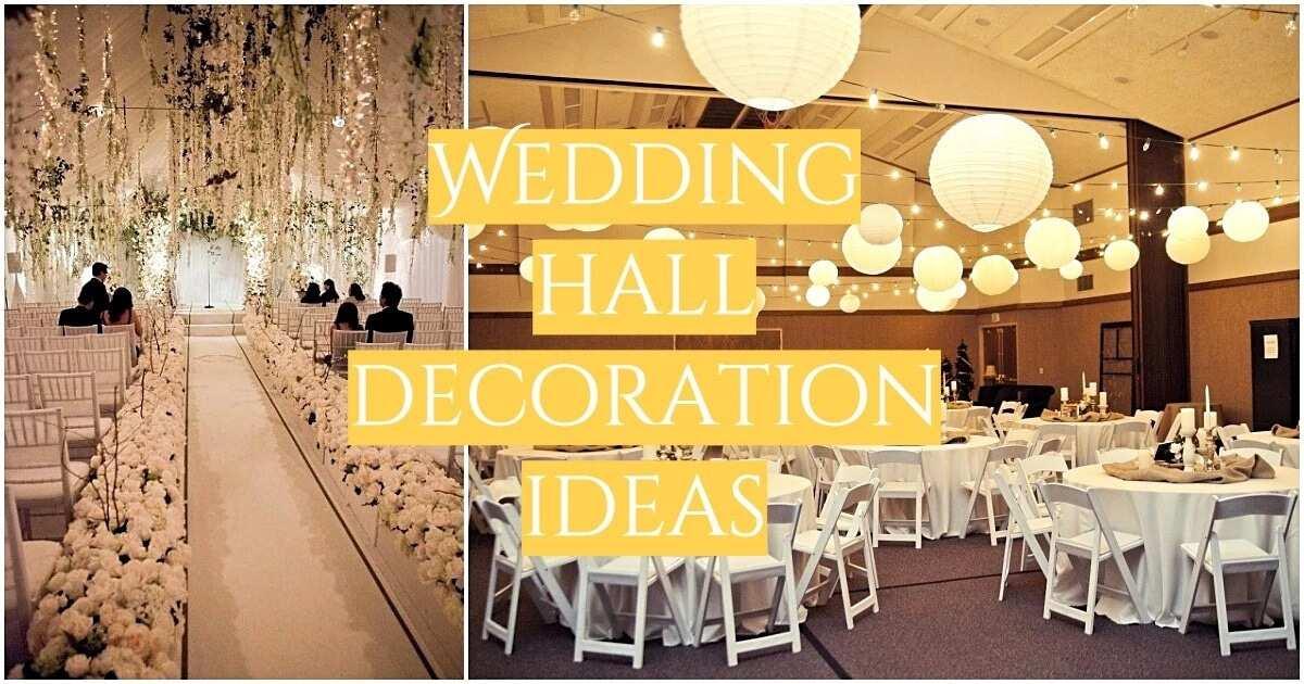 Simple wedding hall decoration ideas in Nigeria