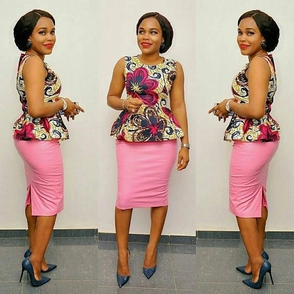 Ankara peplum top and skirt