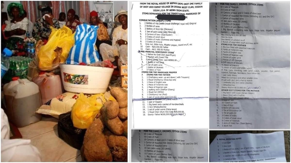 Nigerian man shares bride price list a friend got from his