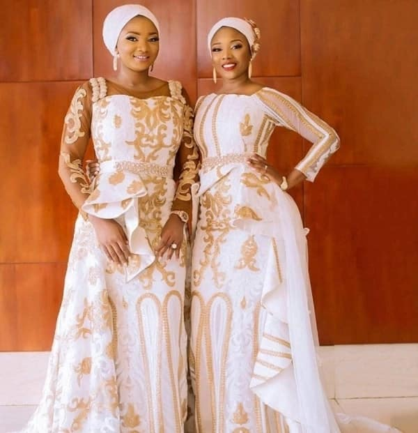 Aso Ebi styles with embroidery