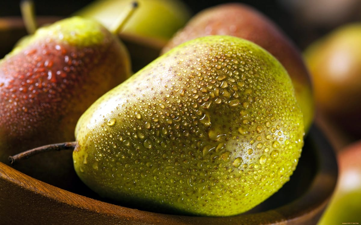 Pear is excellent for breakfast and a snack