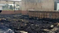 Breaking: Massive fire guts Imo deputy governor's residence, see photos of burnt vehicles, others