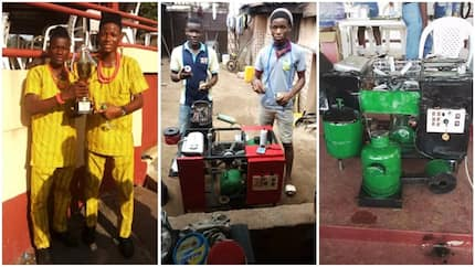 Two young inventors build bitter leaf washing machine (photos)