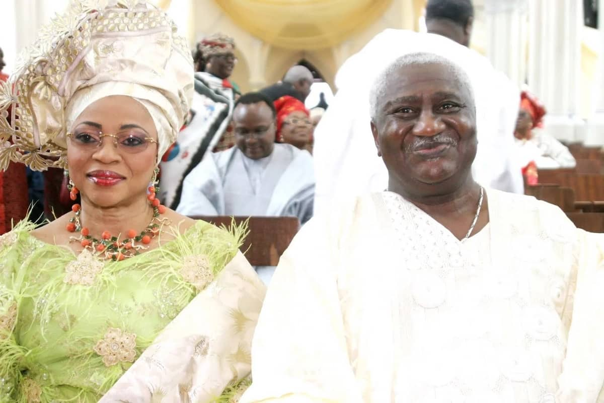 Mrs. Folorunsho Alakija and her husband