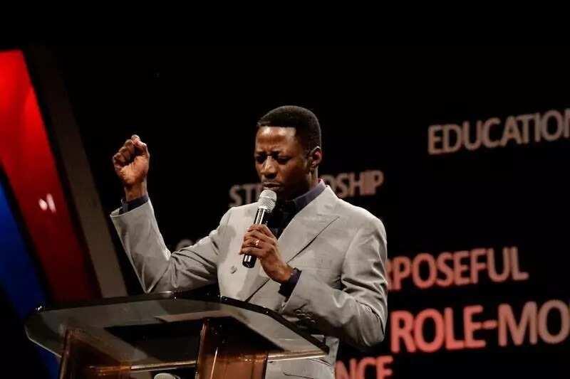 Pastor Sam Adeyemi speaking