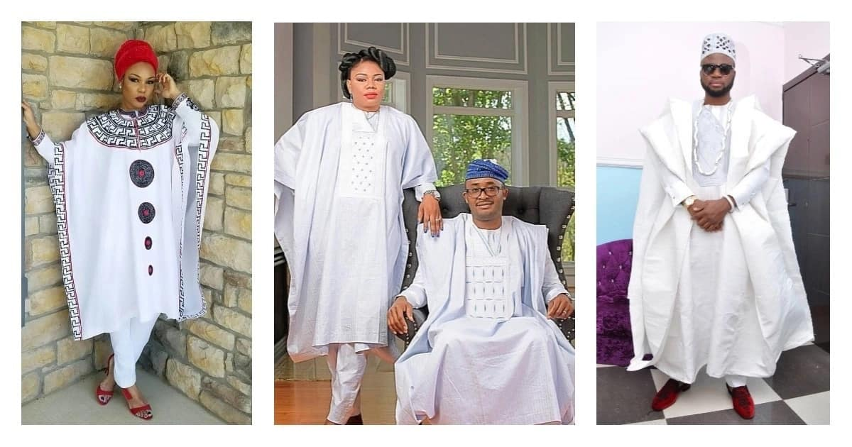 Best white Agbada styles for guys and ladies