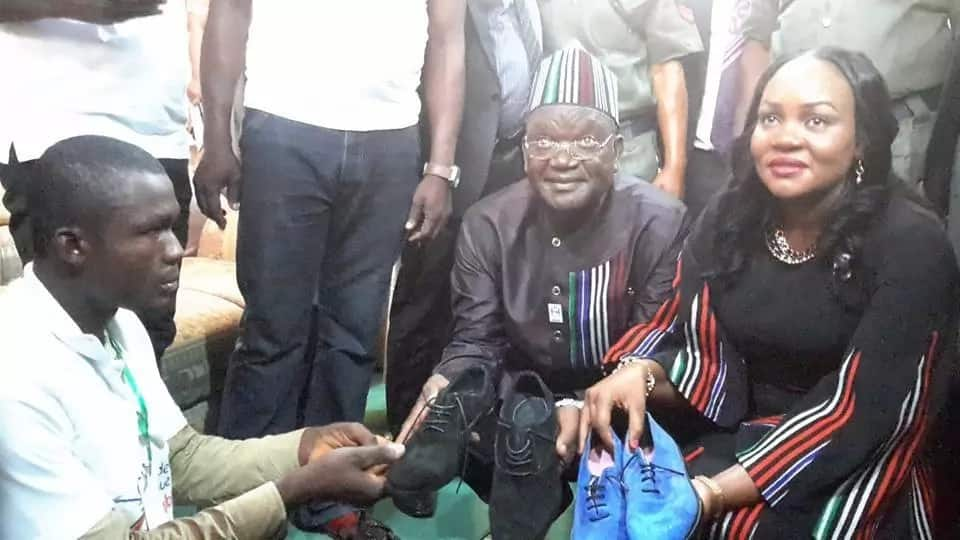 Crippled man makes shoes in Benue to earn a living (Photos)