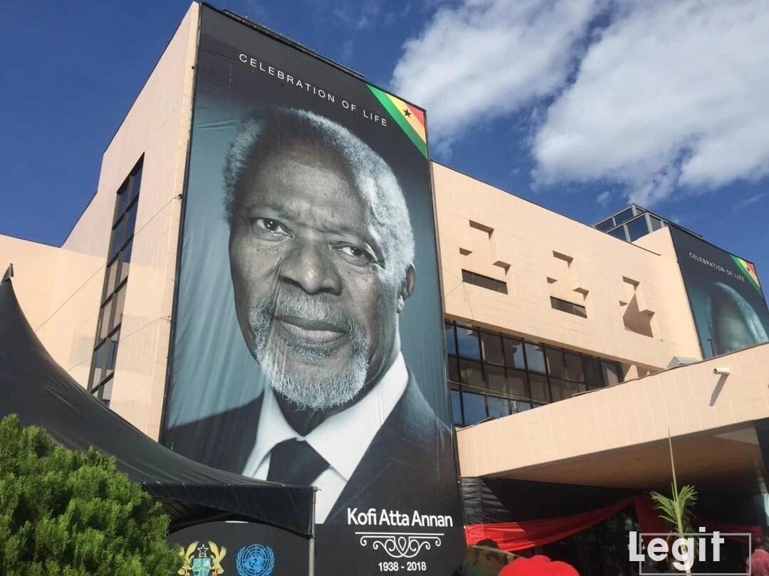 Happening now: Late Kofi Annan's burial underway (photos)