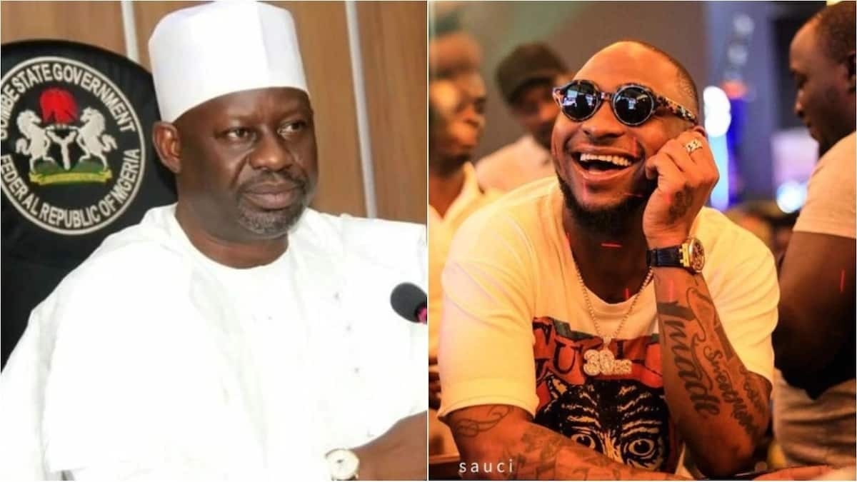 Gombe state governor publicly begs Davido for an assurance, the singer responds