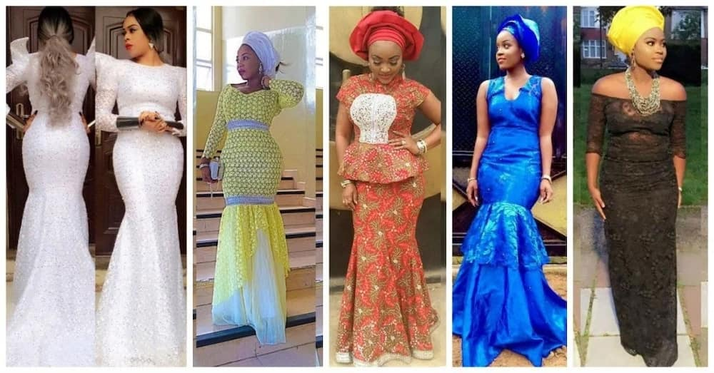 ed5704c0e303b1 Latest lace gown styles in Nigeria ▷ Legit.ng