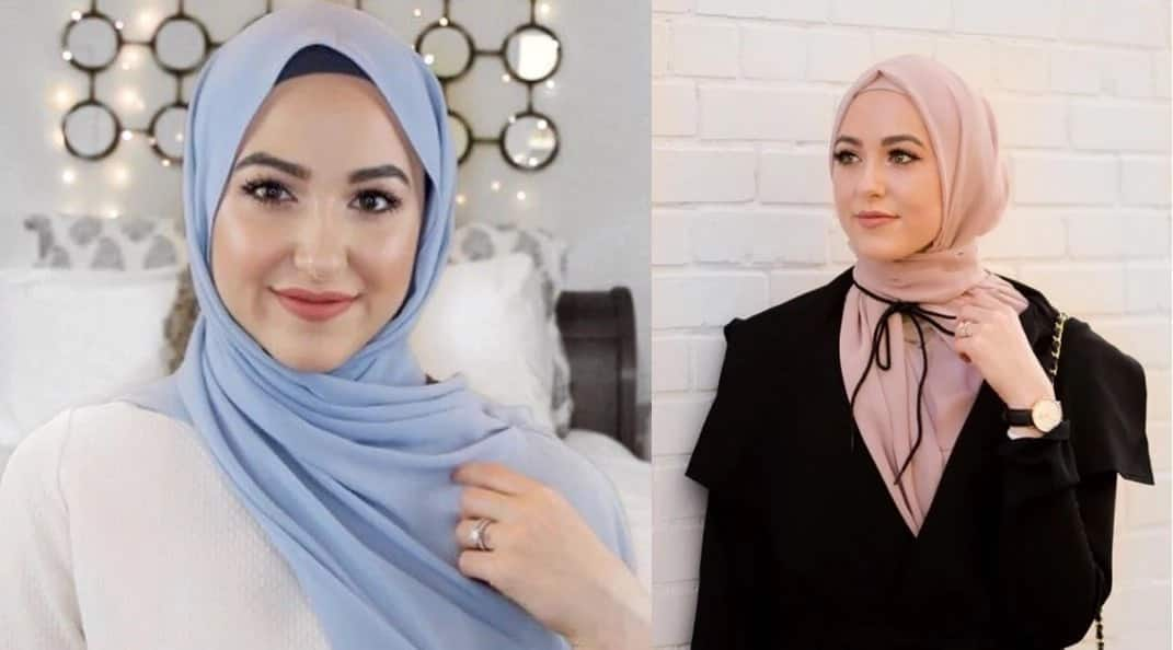 Hijab styles for heart face shapes