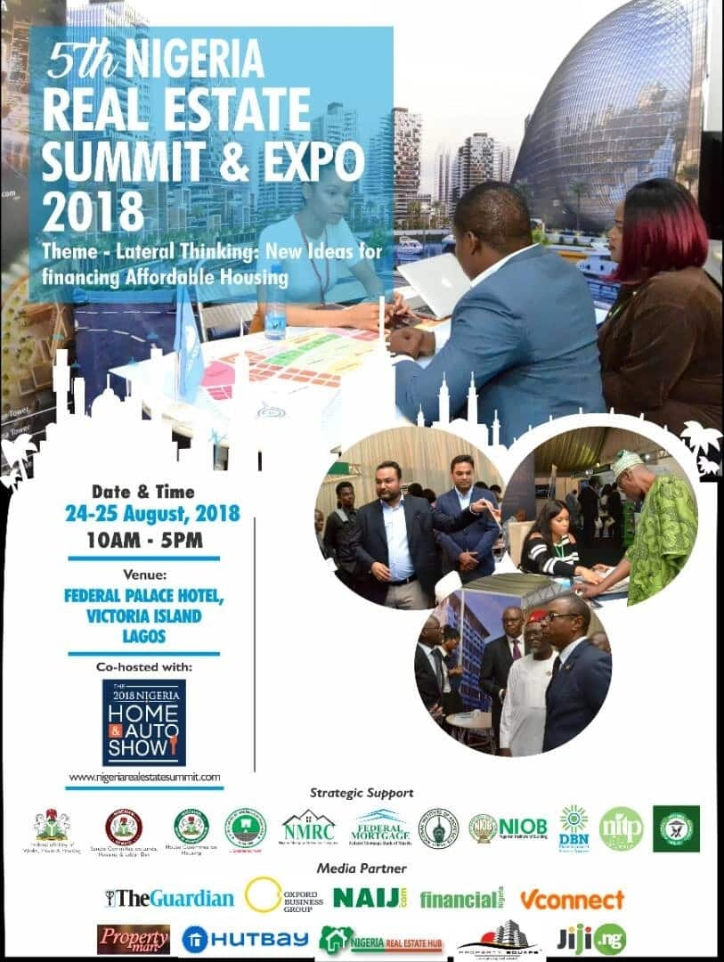 5 things to expect at the 2018 Nigeria Real Estate Summit & Expo