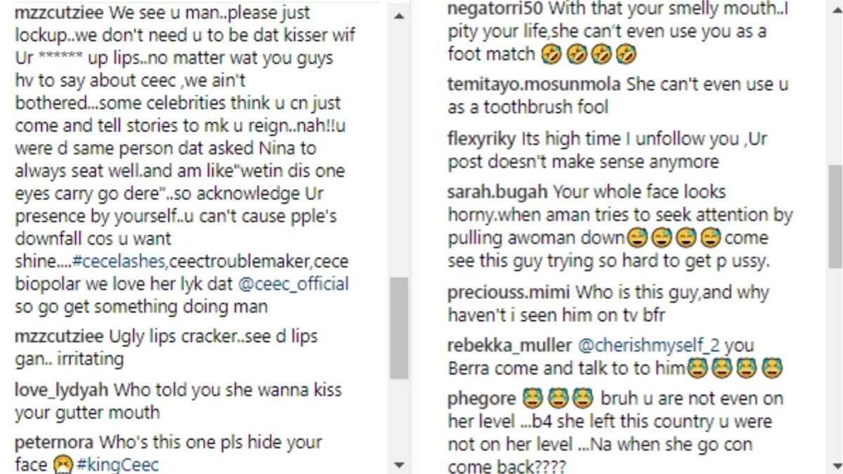 I'll_rather_leave_Nigeria_than_allow_Cee-c_kiss_me–Uche_Maduagwu