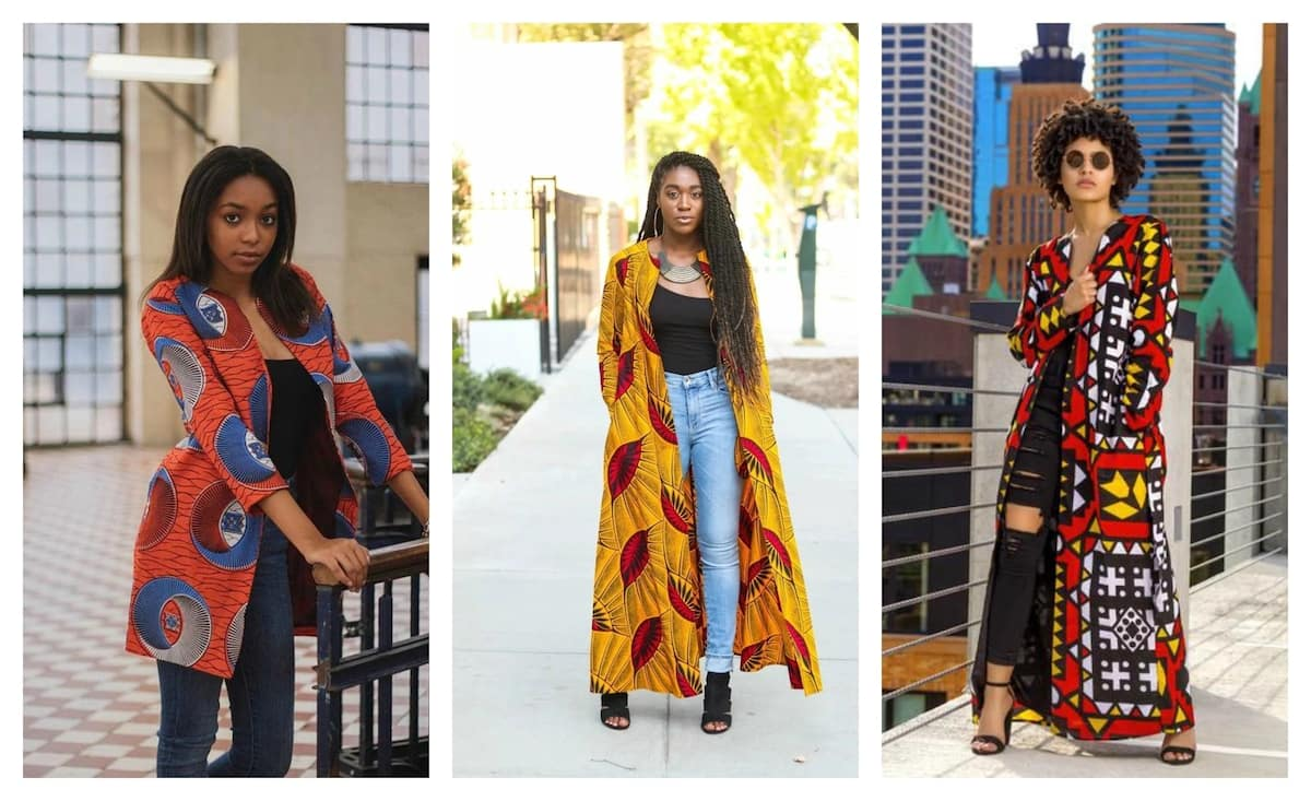 Trendy ankara jackets in red and orange colors