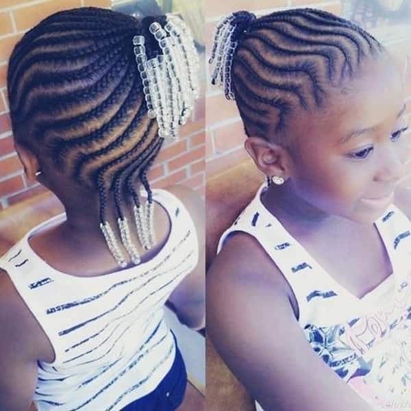 Cornrows with beads