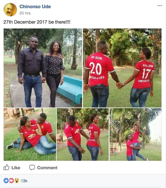 United for life - Handsome Nigerian guy shares cute pre-wedding photos with his sweetheart