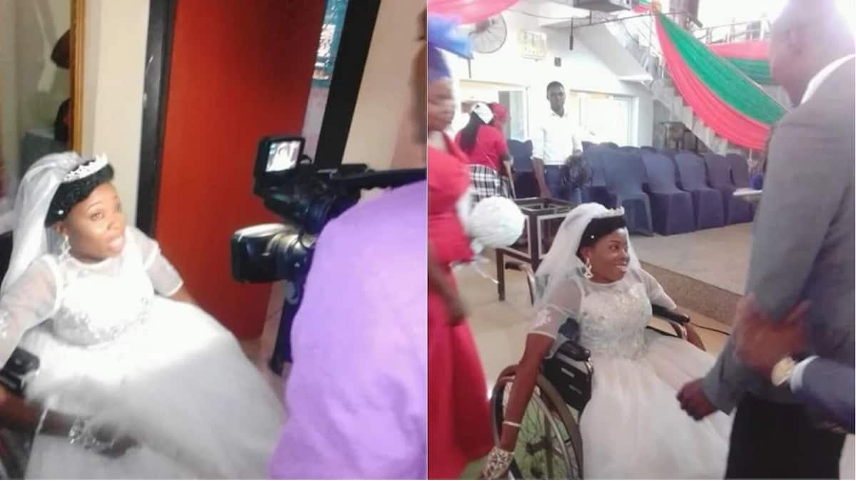 Physically challenged woman weds lover in style