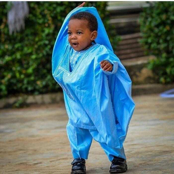 Baby boy Agbada in blue